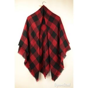 Plaid Blanket Scarf Tartan Plaid Scarf Green Olivaceous Blanket Scarf